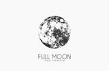 Fototapety Moon logo design. Creative moon logo. Night logo. Full moon.