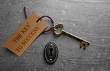 Fototapety The key to success lock