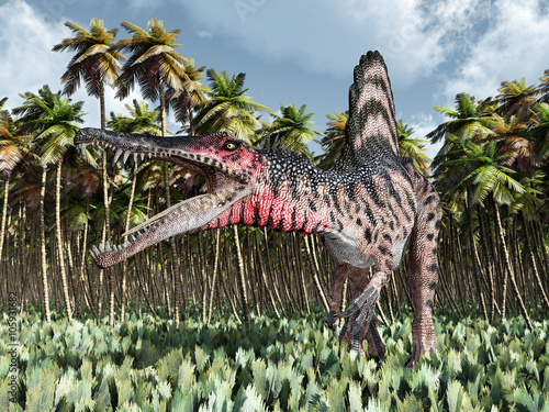 Fototapeta Dinosaur Spinosaurus in the jungle