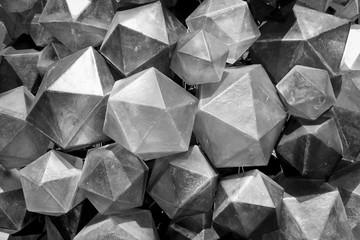 Black and White Triangular background texture.