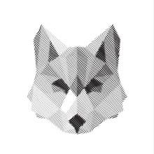 Wilk wygrawerowany znak illyustrat zwierząt wektor