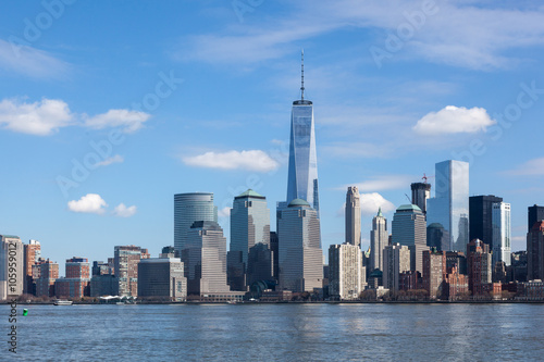 Lower Manhattan from Liberty State Park Poster