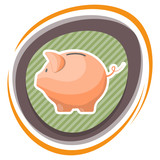 Vector money box colorful icon