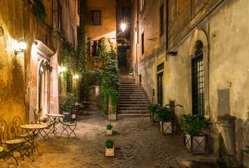 Fototapeta uliczka Rzym nocą
