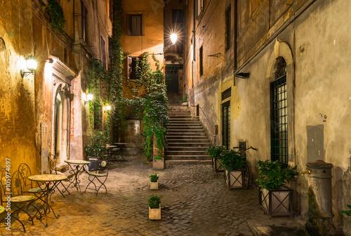 Stary dziedziniec w Rzymie, Włochy