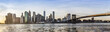 Manhattan Downtown urban view with Brooklyn bridge - 105976406