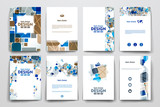 Fototapety Set of brochure, poster design templates in abstract background style