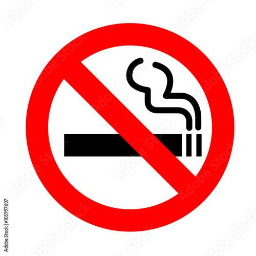 【インテリアシール】シンプルな禁煙マーク 壁シール