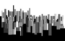 a two colors graphical abstract urban landscape wallpaper in black and white