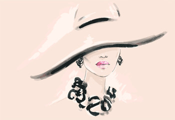 Beautiful woman. fashion illustration © Anna Ismagilova