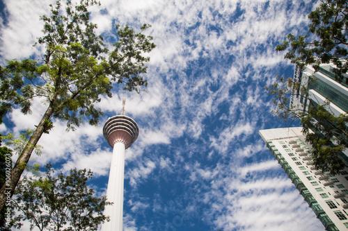 Poster Kuala Lumpur landscape with Menara tower Malaysia