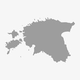 Fototapety Estonia map in gray on a white background