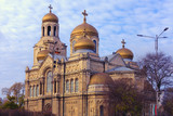 Varna, Bulgaria: Orthodox Cathedral of the Assumption of the Virgin in sunset light