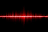 red sound wave background