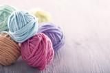 Pastel yarn balls - 106086431