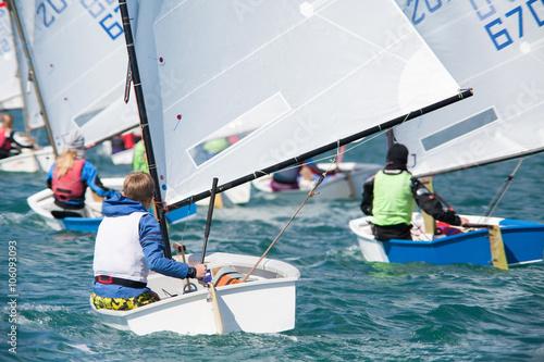 Fotobehang Zeilen sailing regatta
