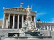 Leinwanddruck Bild - Österreich, Wien, Parlament