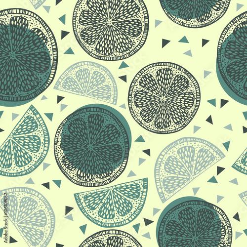 Fototapeta Citrus pattern graphics