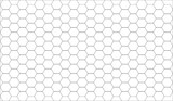 Fototapety white abstract geometric hexagon pattern background with black o