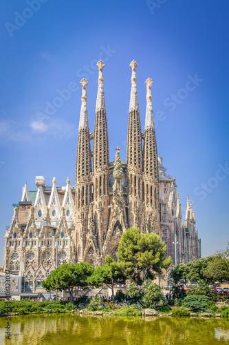 Sagrada familia, Barcelona. Retro-style Poster