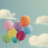 Bunch of colorful balloons - 106125834