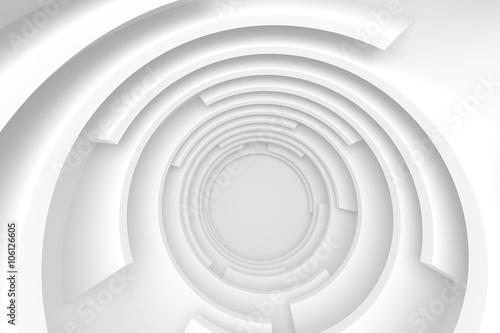 Naklejka White Abstract Tunnel