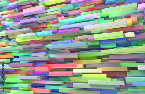 Fototapeta Abstract background of colored many cubes