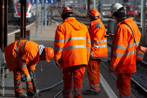 Poster Bahnarbeiter II