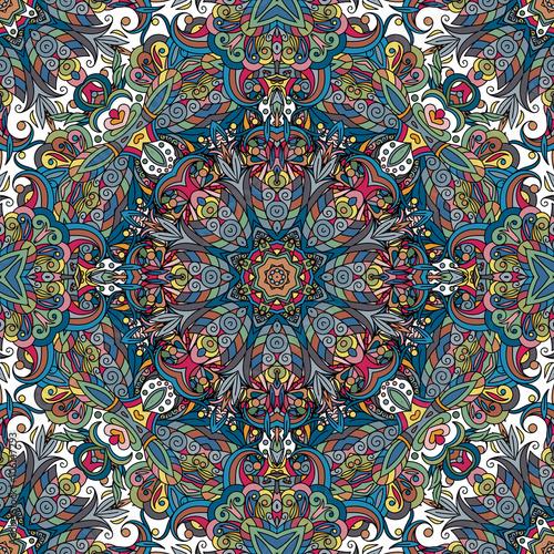 Seamless pattern. Vintage decorative elements. Hand drawn background. Islam, Arabic, Indian, ottoman motifs. - 106147293
