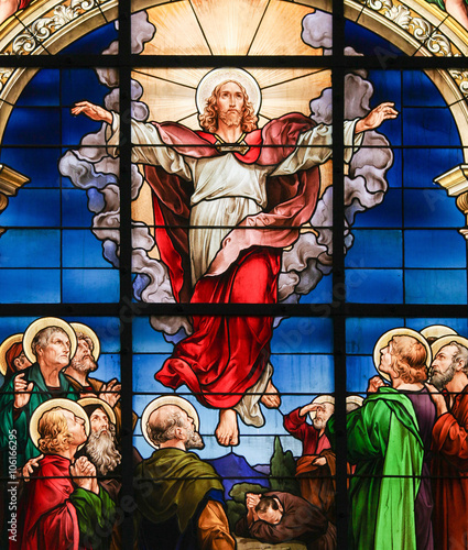 Fototapeta Ascension of Christ - Stained Glass
