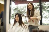 Fototapety Long hair of women are cut hair hairdresser