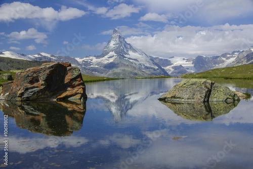 Poster Zermatt-Matterhorn - Spiegelung im Stellisee