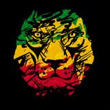 rasta lion vector 2