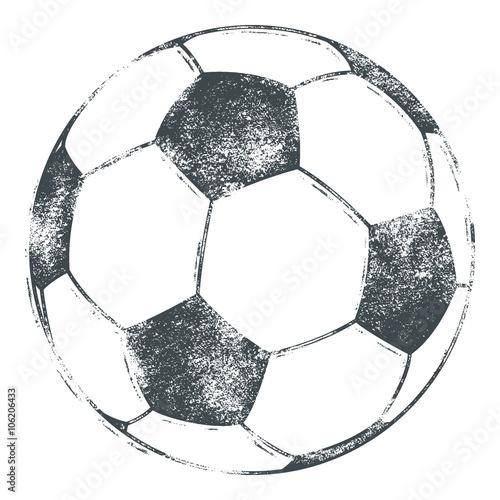 Fototapeta Soccer Ball / Football - Grunge Look