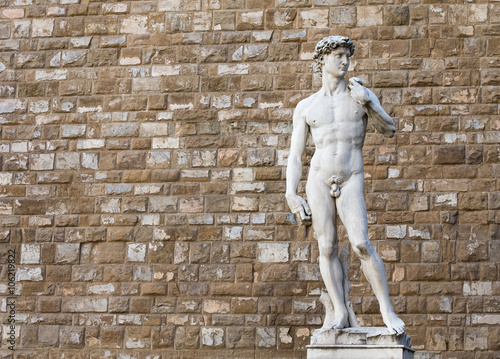 David by Michelangelo in Florence, Italy Poster