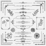 Fototapety Vector Hand Sketched Rustic Design Elements, Dividers