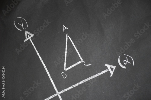 Poster Studying mathematics on a blackboard