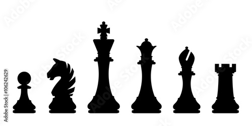 Poster Chess pieces