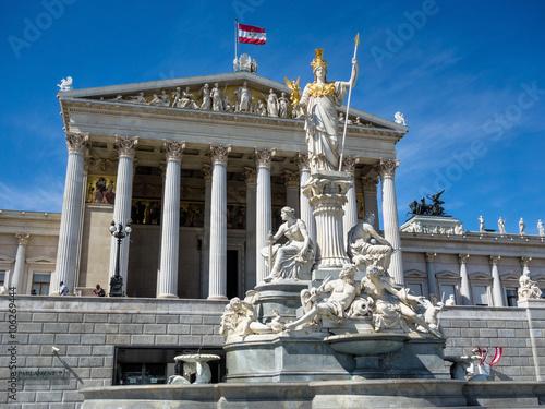 Fotobehang Wenen Österreich, Wien, Parlament
