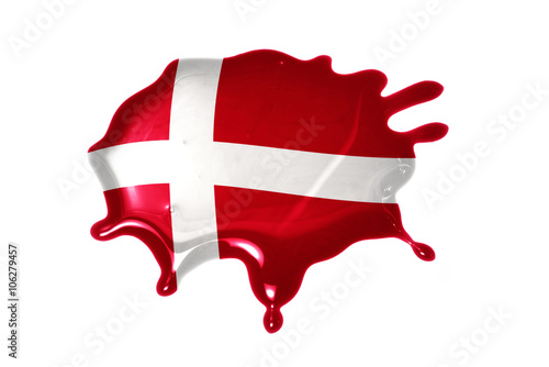 blot with national flag of denmark