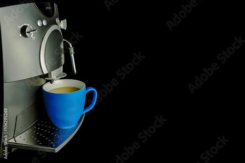 Poster Kaffee Tasse blau