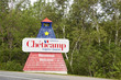 welcome to Cheticamp sign in cape bretton island nova scotia can