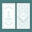 Obrazy na płótnie, fototapety, zdjęcia, fotoobrazy drukowane : Decorative wedding invitation design