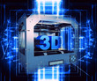 3d printer with futuristic effect