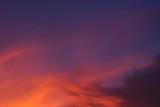 colorful dramatic sunset sky with orange cloud, twilight sky
