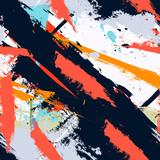 Fototapety Abstract art grunge distressed seamless pattern