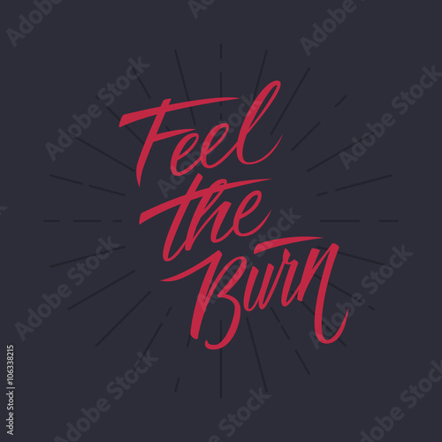 Plakát Feel the burn