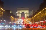 Arc of Triomphe Champs-Elysees Paris France