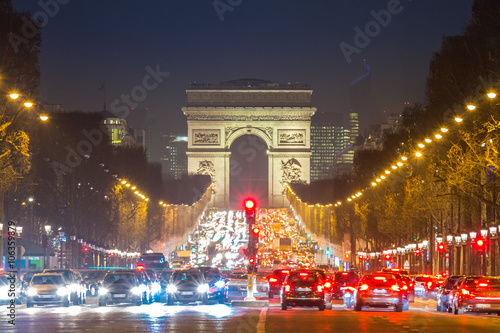 Poster Arc of Triomphe Champs-Elysees Paris France