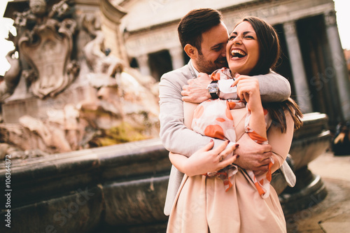 Couple in Rome Poster